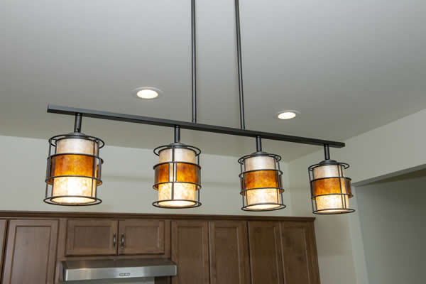 Zitzow Electric can hang lighting in your kitchen.
